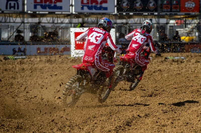 Mitch Evans and Tim Gajser at 2020 FIM MXGP of Spain