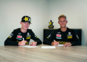 Rockstar Energy Husqvarna Factory Racing Signs Kay de Wolf and Maxime Grau