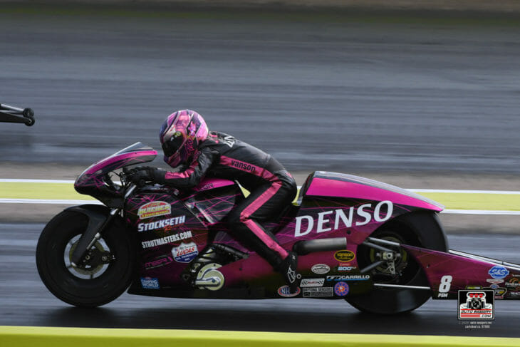 NHRA Pro Stock Motorcyclist Angie Smith Breaks 200-mph Barrier
