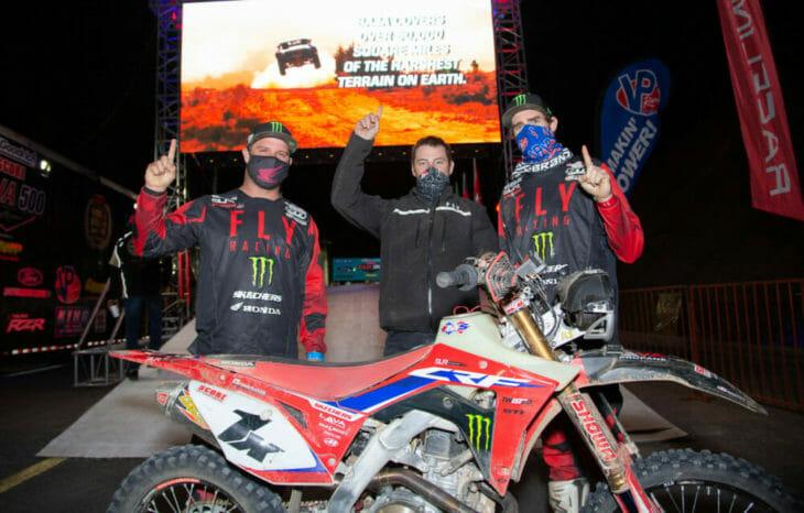 2020 Baja 1000 Motorcycle Results finish with Mark Samuels Justin Morgan and Justin Jones