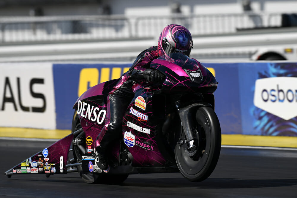 2020 Las Vegas NHRA Pro Stock Motorcycle Finals Results