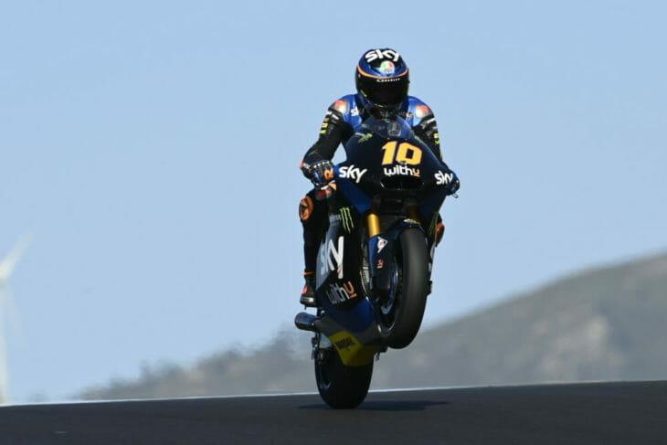 2020 Portuguese MotoGP Marini fastest Friday