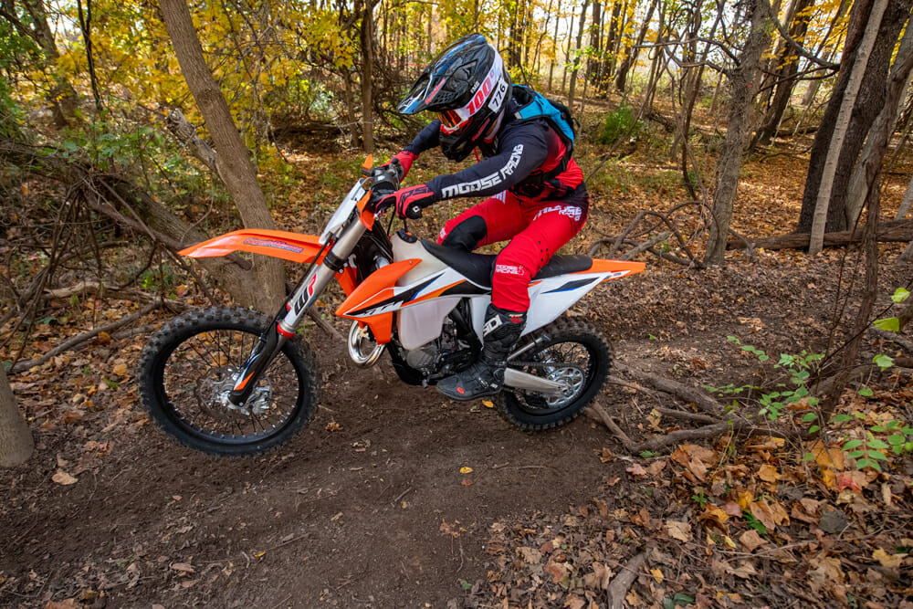 2021 KTM 125 XC in the woods