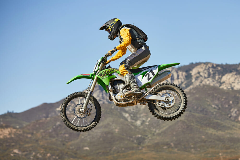 2021 Kawasaki KX250X & KX450X Jumping