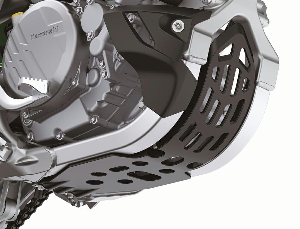 2021 Kawasaki KX250X & KX450X skid plate