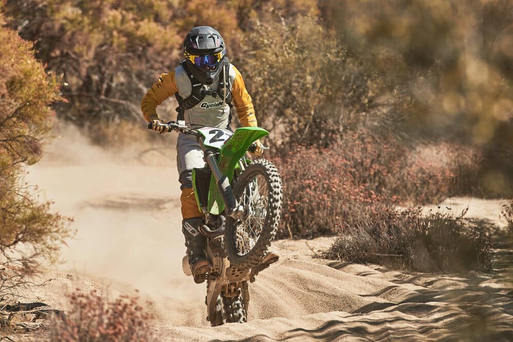 2021 Kawasaki KX250X & KX450X on trail