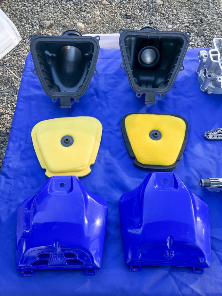 2021 Yamaha YZ250F air intake system