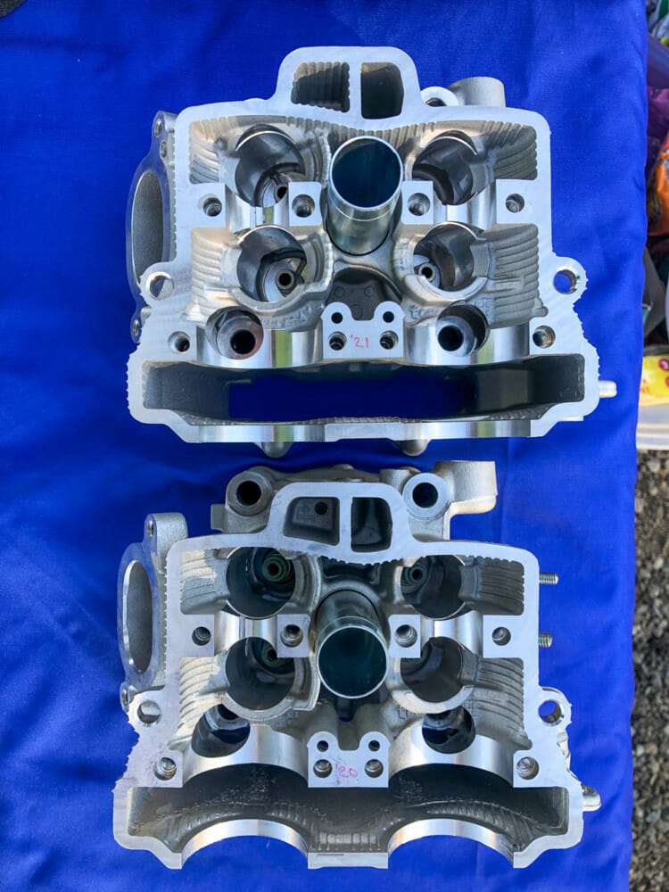 2021 Yamaha YZ250F cylinder heads
