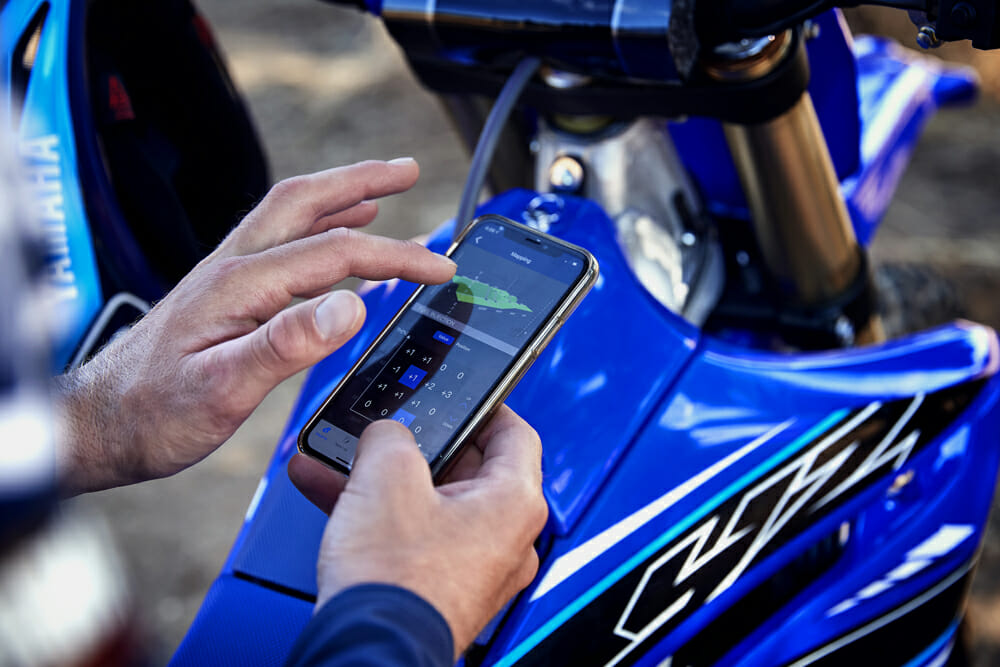 Yamaha Power Tuner App for YZ250F motorcycles