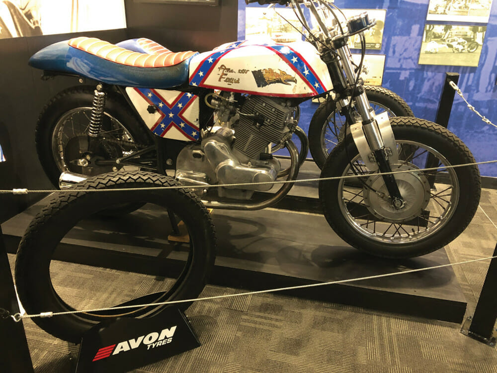Avon Tires Featured on Restored Evel Knievel Motorcycle