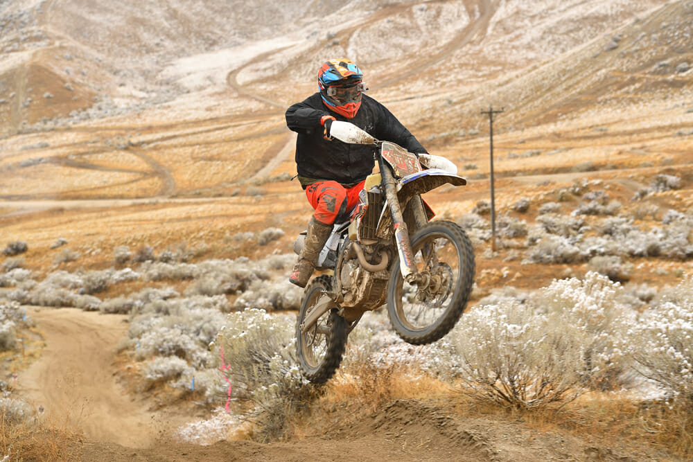 Clayton Gerstner at 2020 Idaho AMA West Hare Scrambles