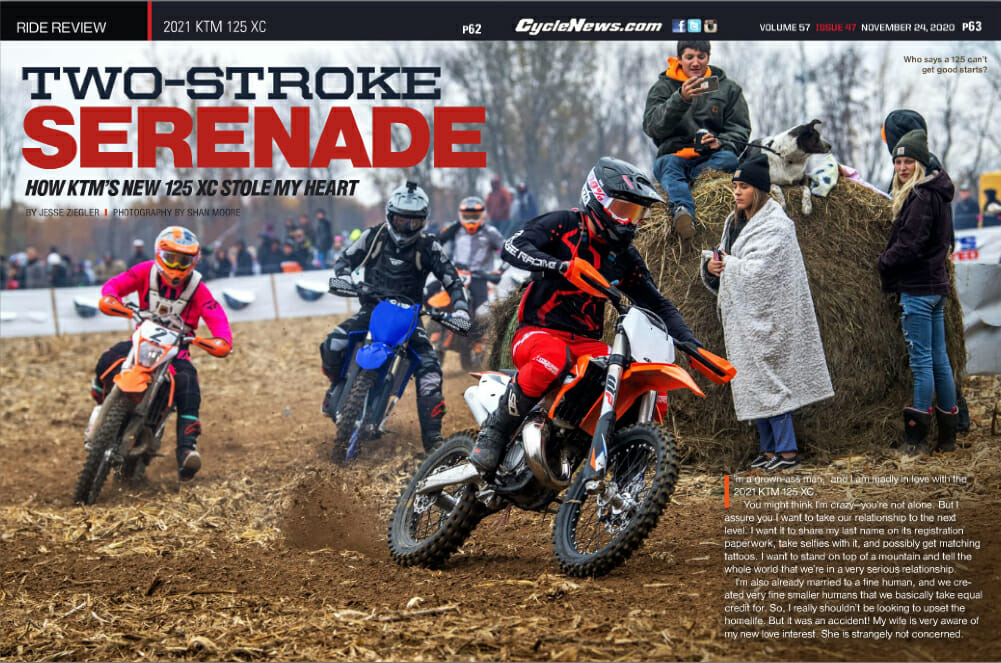 Cycle News 2021 KTM 125 XC Review
