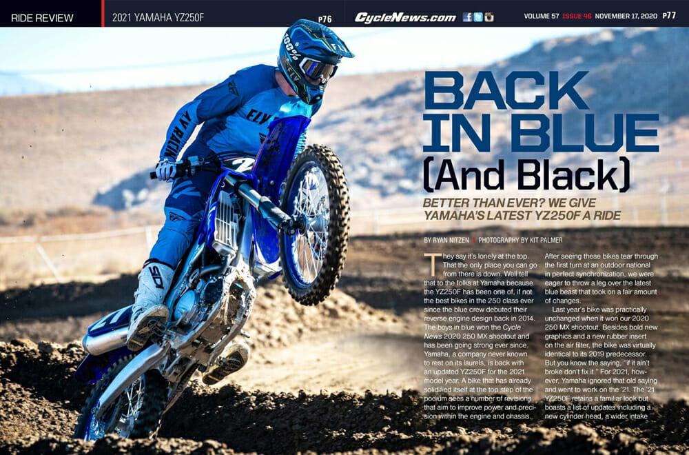 Cycle News 2021 Yamaha YZ250F Review