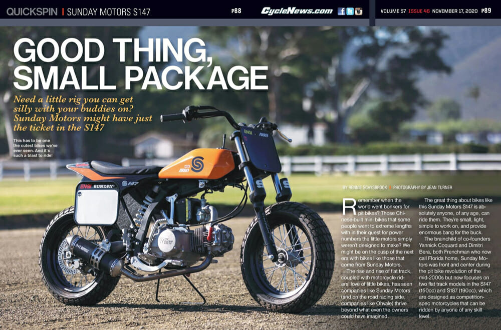 Cycle News Sunday Motors S147 Review