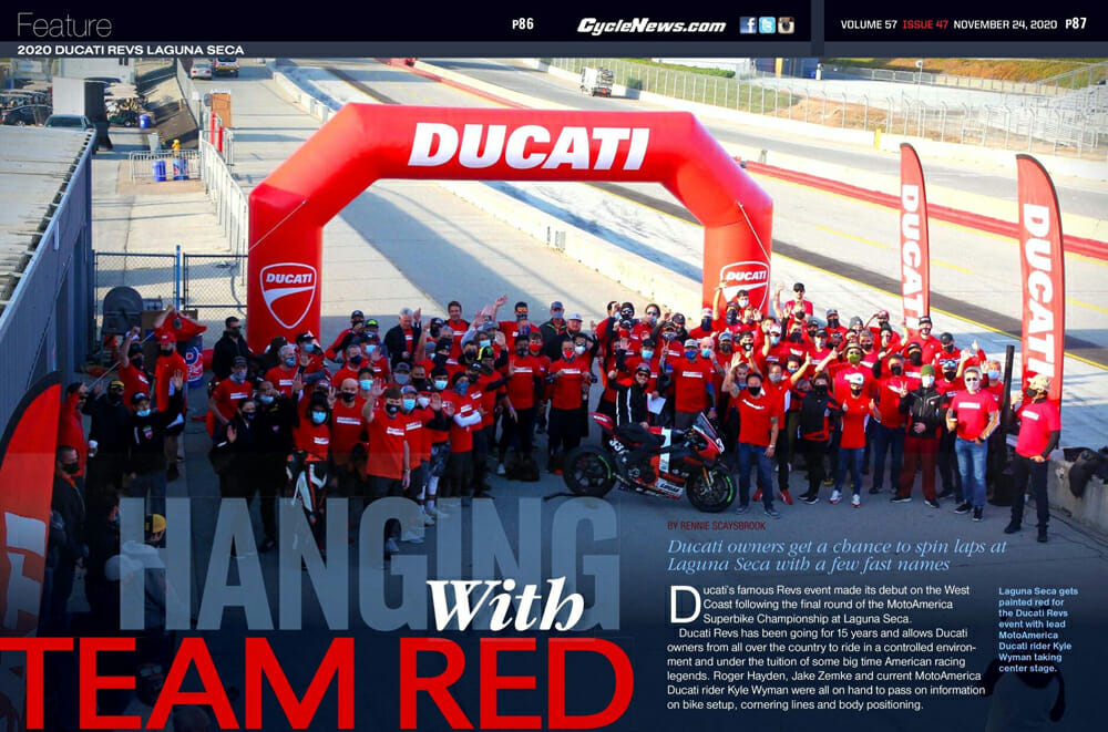 Cycle News Magazine at 2020 Ducati Revs Laguna Seca