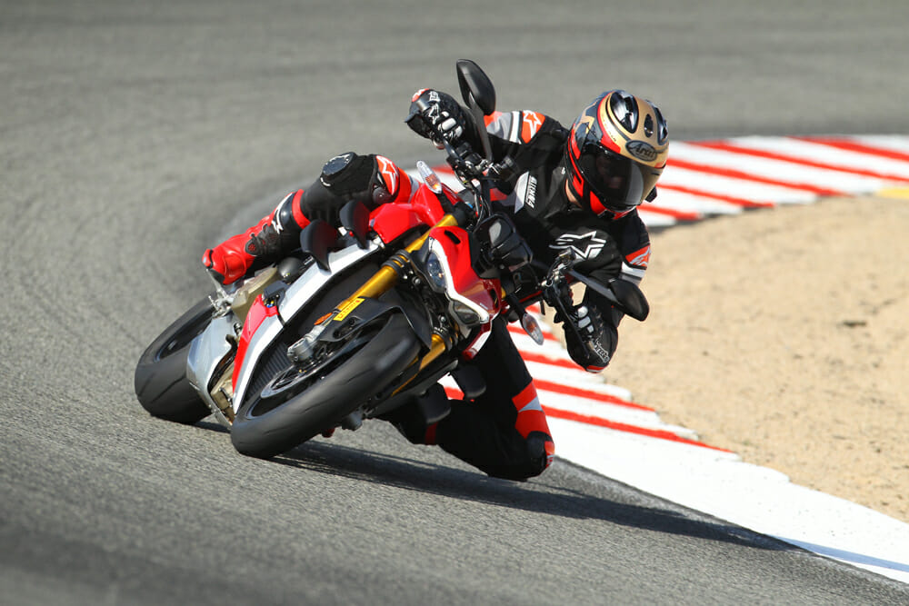 Ducati Streetfighter V4 S at Laguna Seca