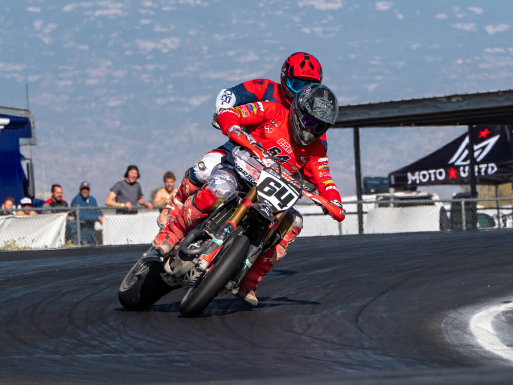 Shane Narbonne and Bronson Pearce at 2020 AMA Supermoto Championship