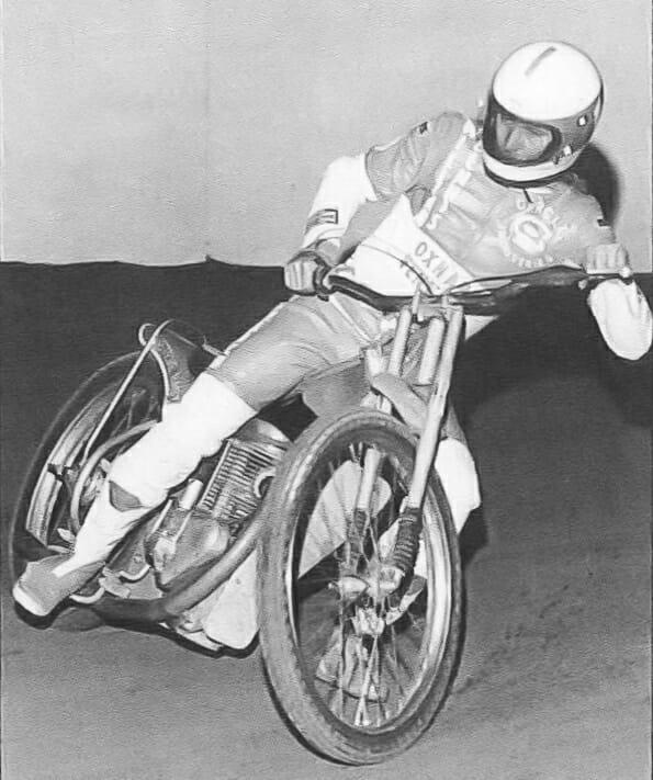 Speedway racer Steve Bast