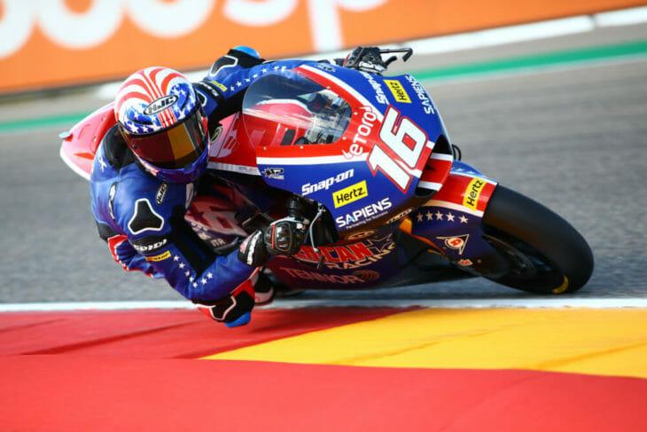 Joe Roberts Aprilia MotoGP podium