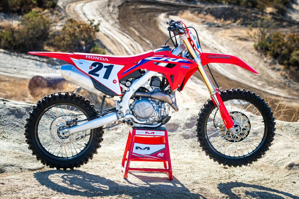 2021 Honda CRF450R rigth side