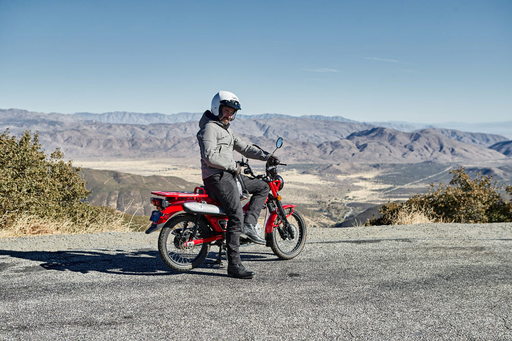 Rennie Scaysbrook on the 2021 Honda CT125 Trail