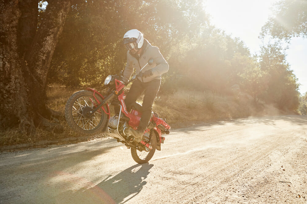 2021 Honda CT125 Trail wheelie