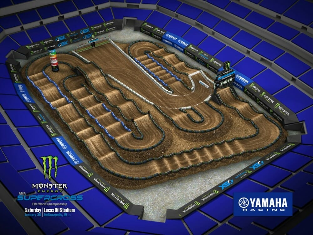 2021 Supercross Round 4 – Indianapolis Track Map