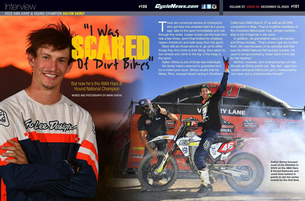 Cycle News Interview Dalton Shirey