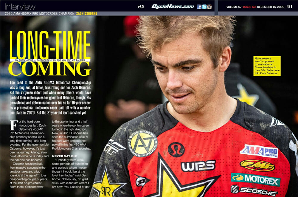 Cycle News Zach Osborne Interview