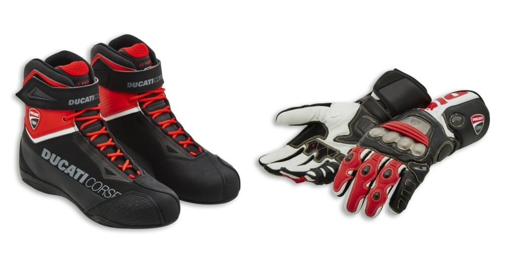 Ducati Corse City C2 technical short boots and DC C5 Gloves