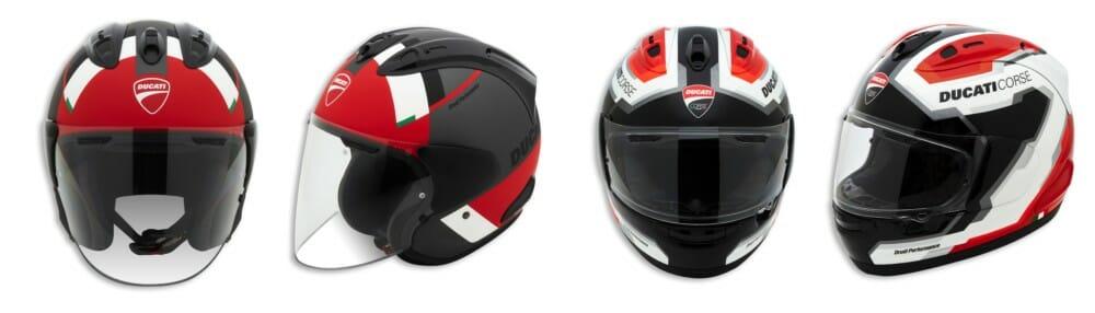 Ducati D-Attitute Helmet and the Corse DC V5 Helmet