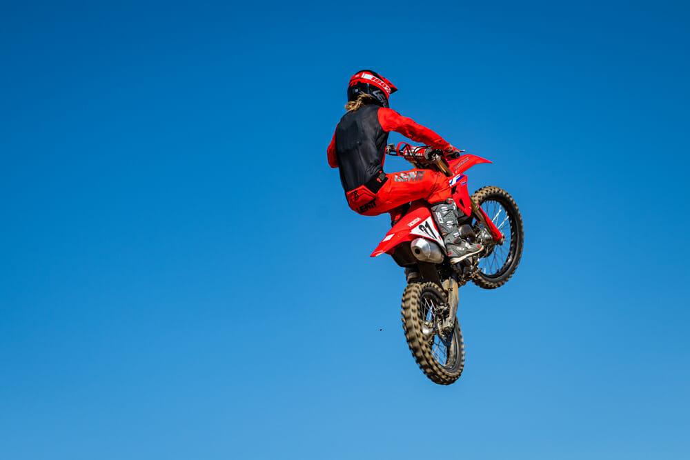 2021 Honda CRF450R jumping
