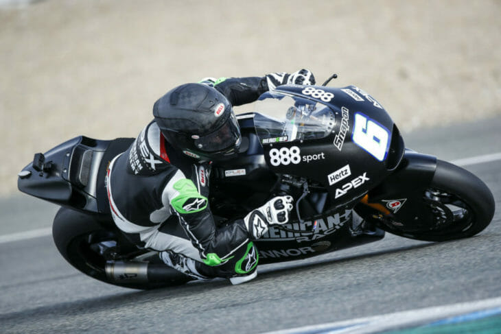 Cameron Beaubier Moto2 Test turn