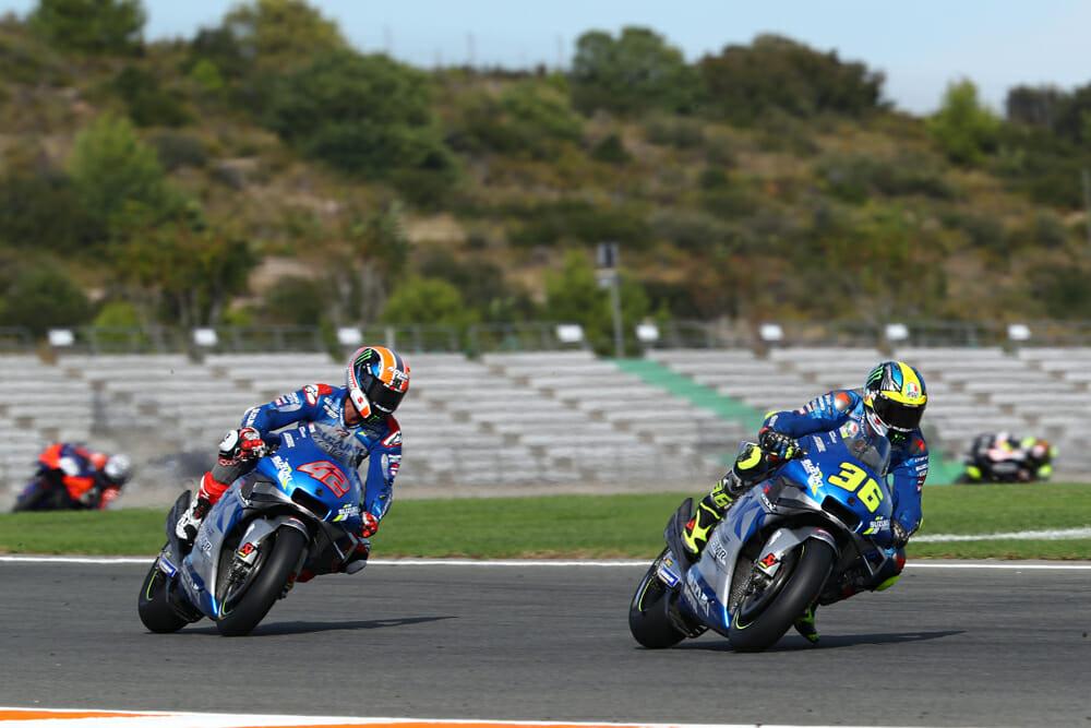 Joan Mir (36) and Alex Rins at 2020 MotoGP