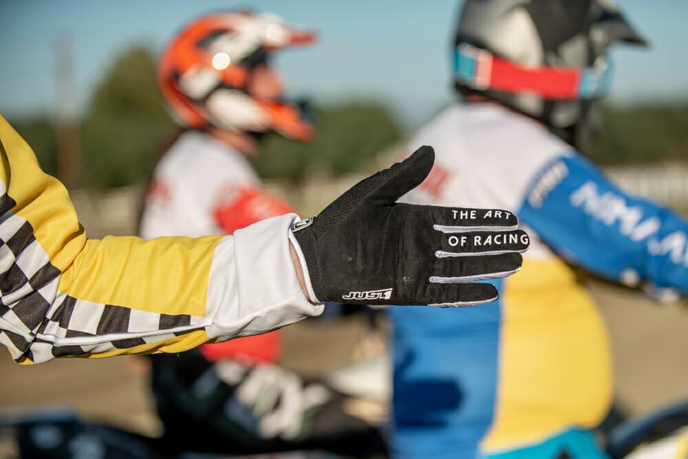 Just 1 Racing gear at Royal Enfield Slide School
