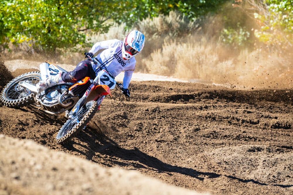 2021 KTM 450 SX-F on the track