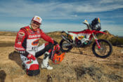 Laia Sanz and the GasGas Factory Racing Dakar Rally RC 450F