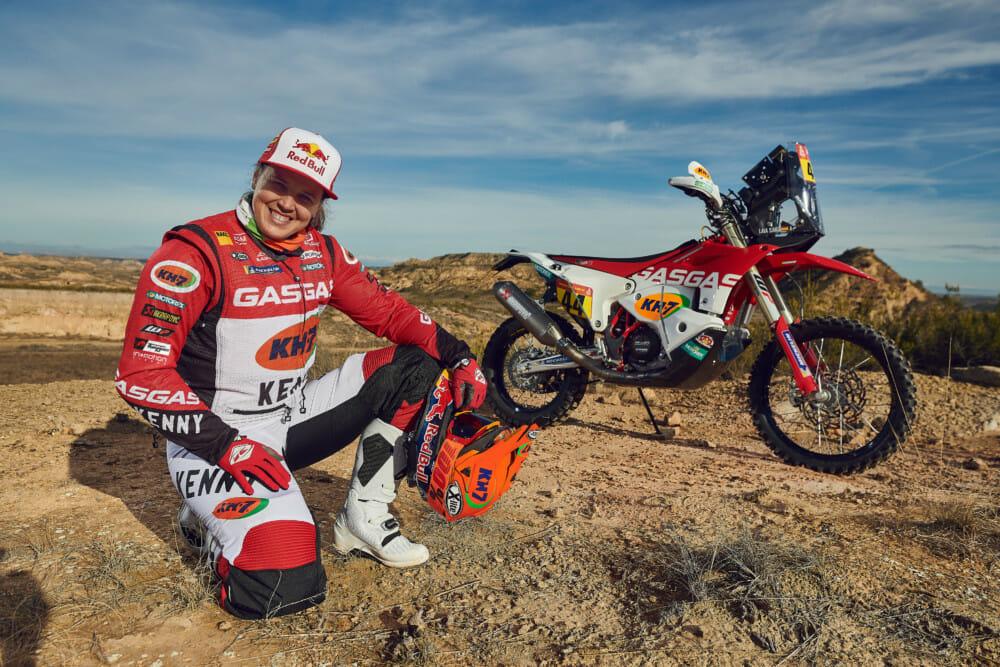 Laia Sanz and the GasGas Factory Racing Dakar Rally RC 450F