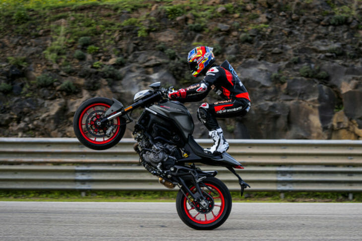 2021 Ducati Monster First Look wheelie