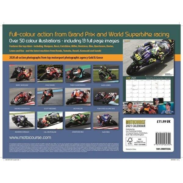Motocourse 2021 Grand Prix & Superbike Calendar back