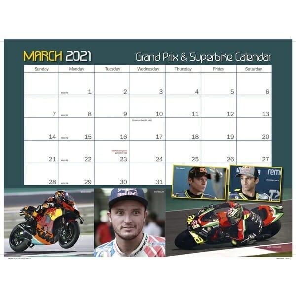 Motocourse 2021 Grand Prix & Superbike Calendar March