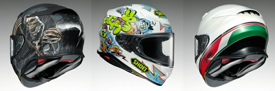 Shoei RF-1400 Faust, Mural and Nocturne Helmets