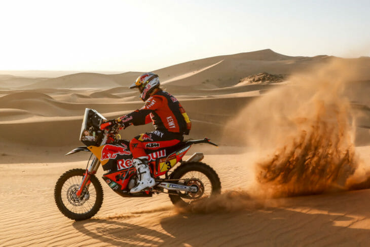 Toby Price 2021 Dakar stage 2 action