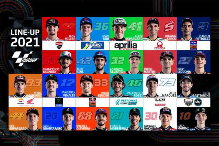 2021 MotoGP Rider Lineup