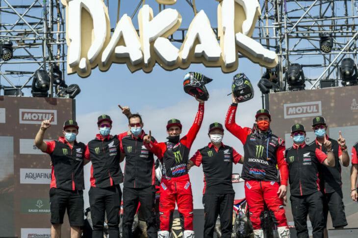 2021 Dakar Rally Motorcycle Results Stage 12 Honda 1-2