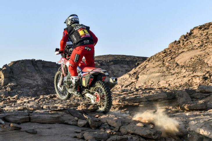 Ricky Brabec 2021 Dakar Rally state 3 action