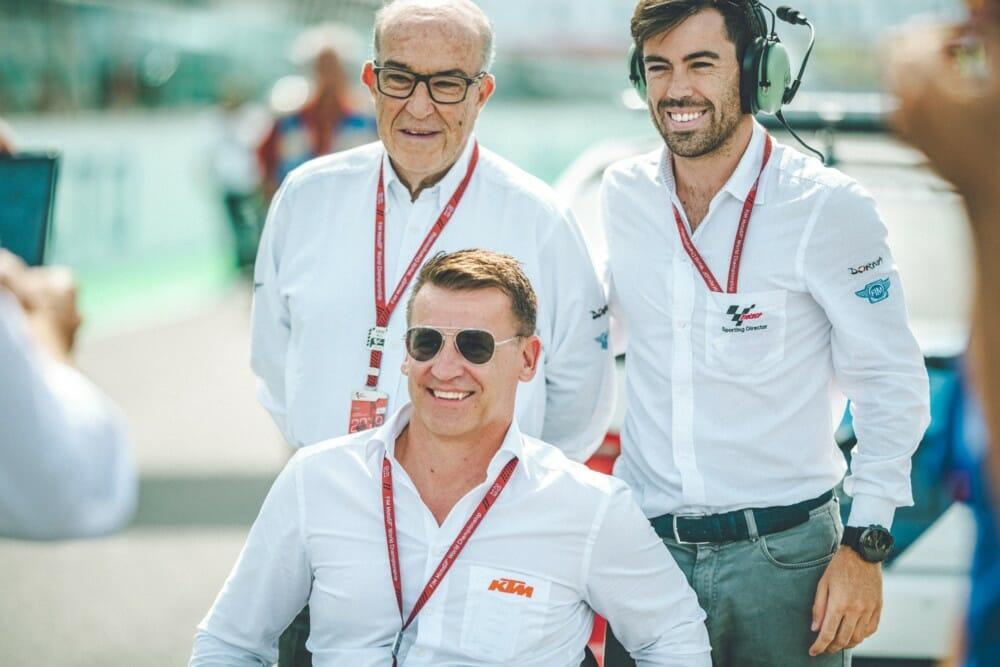 Carmelo Ezpeleta, Pit Beirer and Carlos Ezpeleta