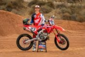 Chase Sexton 2021 Team Honda HRC with Bike