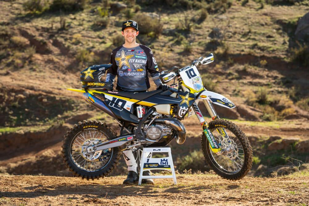 Colton Haaker of the Rockstar Energy Husqvarna Factory Racing 2021 Off-Road Team