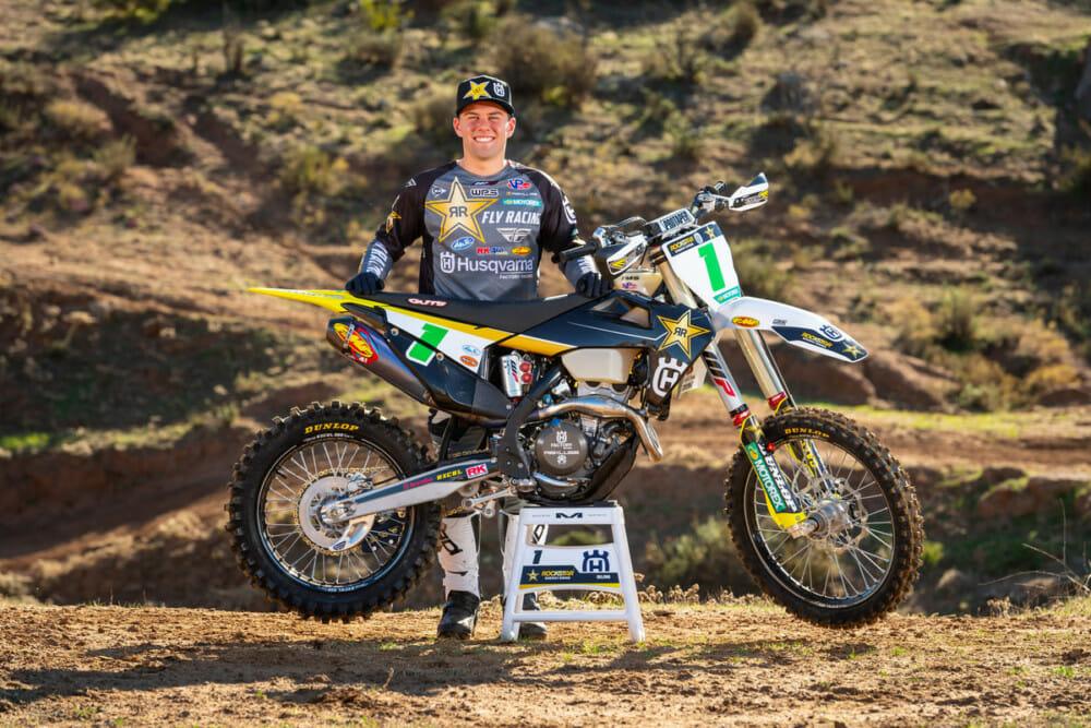 Craig Delong of the Rockstar Energy Husqvarna Factory Racing 2021 Off-Road Team